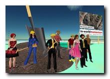 Das Team und Gäste beim virtuellen Ersten Spatenstich