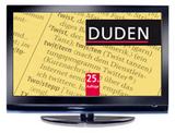 Bildschirmschoner zur 25. Auflage des Dudens