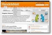 Handelsblatt Online-Special Altersvorsorge